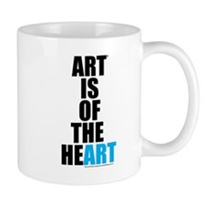 Art Is of the Heart (blue) Mug