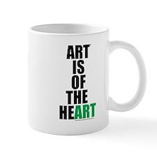 Art Is of the Heart (green) Mug