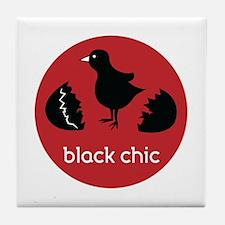 Black Chic Tile Coaster
