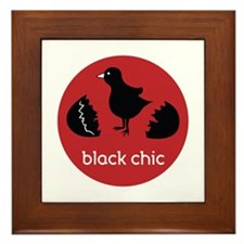 Black Chic Framed Tile