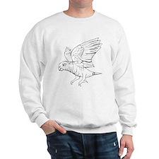 African Grey Parrot in Flight Sweatshirt