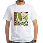 Boy Soccer Player White T-Shirt