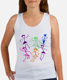 Stick Figures Dancers Women's Tank Top