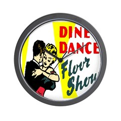 Dine and Dance Wall Clock