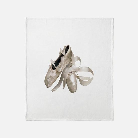 Ballet Slippers Throw Blanket