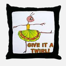 Bug Dancer Throw Pillow