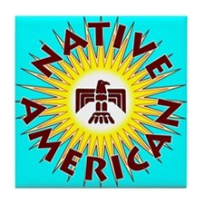 Native American T Tile Coaster