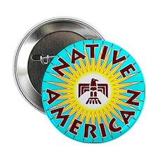 """Native American T 2.25"""" Button"""