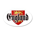 England Coat of Arms 22x14 Oval Wall Peel