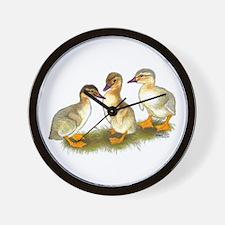Buff Orpington Ducklings Wall Clock