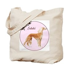 """Saluki in Pink"" Tote Bag"