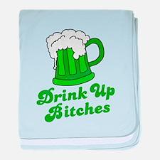 Drink Up baby blanket