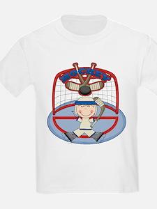 Stick Figure Hockey Goalie T-Shirt