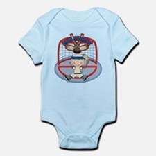 Stick Figure Hockey Goalie Infant Bodysuit