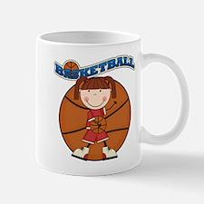 Brunette Girl Basketball Mug