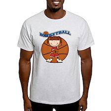 Brunette Girl Basketball T-Shirt