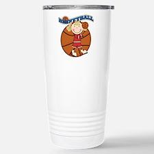 Blond Girl Basketball Travel Mug
