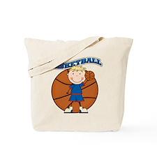 Blond Boy Basketball Tote Bag