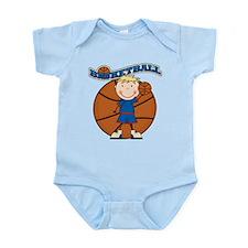 Blond Boy Basketball Infant Bodysuit