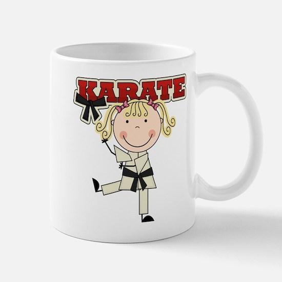 Blond Girl Karate Kid Mug