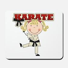 Blond Girl Karate Kid Mousepad