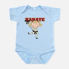 Blond Girl Karate Kid Infant Bodysuit