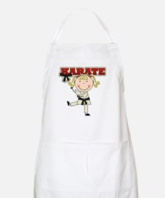 Blond Girl Karate Kid Apron