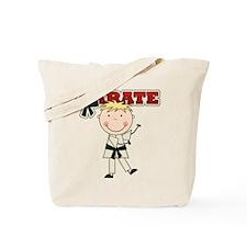 Blond Boy Karate Kid Tote Bag