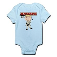 Blond Boy Karate Kid Infant Bodysuit