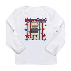 Boy Baseball Catcher Long Sleeve Infant T-Shirt