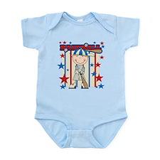 Blond Boy Baseball Player Infant Bodysuit