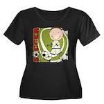 Boy Soccer Player Women's Plus Size Scoop Neck Dar