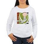 Boy Soccer Player Women's Long Sleeve T-Shirt