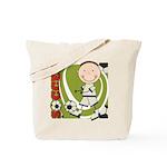 Boy Soccer Player Tote Bag
