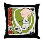Boy Soccer Player Throw Pillow