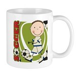 Boy Soccer Player Mug