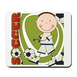 Boy Soccer Player Mousepad