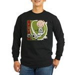 Boy Soccer Player Long Sleeve Dark T-Shirt