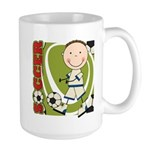 Boy Soccer Player Large Mug