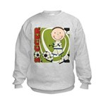 Boy Soccer Player Kids Sweatshirt