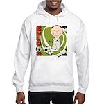 Boy Soccer Player Hooded Sweatshirt