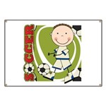 Boy Soccer Player Banner