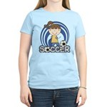Girls Soccer Women's Light T-Shirt