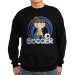 Girls Soccer Sweatshirt (dark)