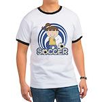 Girls Soccer Ringer T