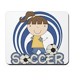 Girls Soccer Mousepad