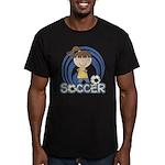 Girls Soccer Men's Fitted T-Shirt (dark)