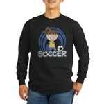 Girls Soccer Long Sleeve Dark T-Shirt