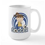 Girls Soccer Large Mug
