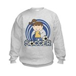 Girls Soccer Kids Sweatshirt